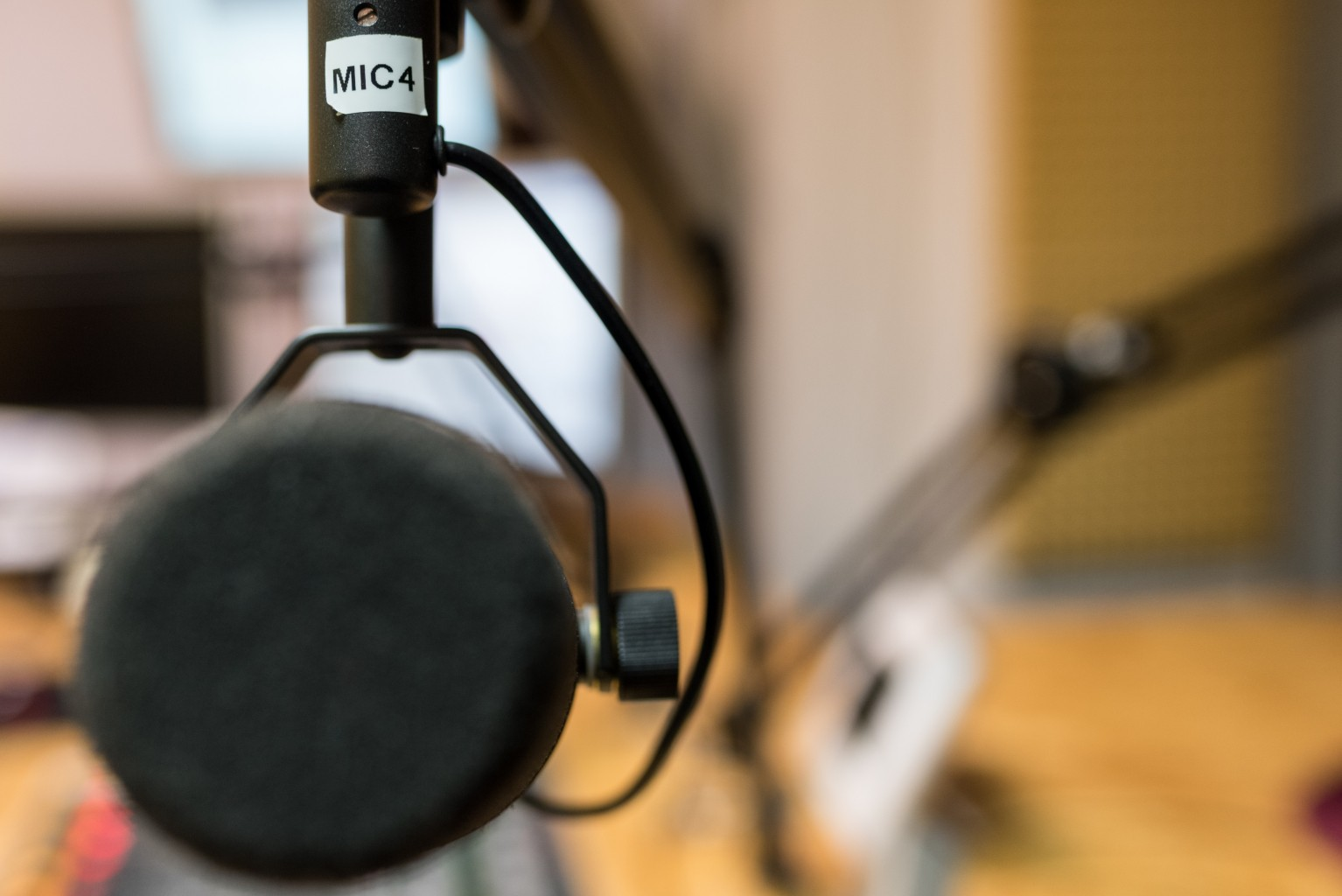 Mikro im Radiostudio
